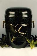 Bestatter Ingolstadt Dunkle Urne mit Rosendekor